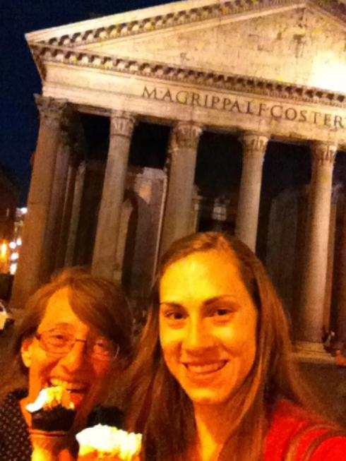 Outside the Pantheon at night