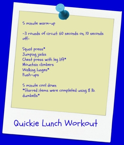 Quickie Lunch Workout