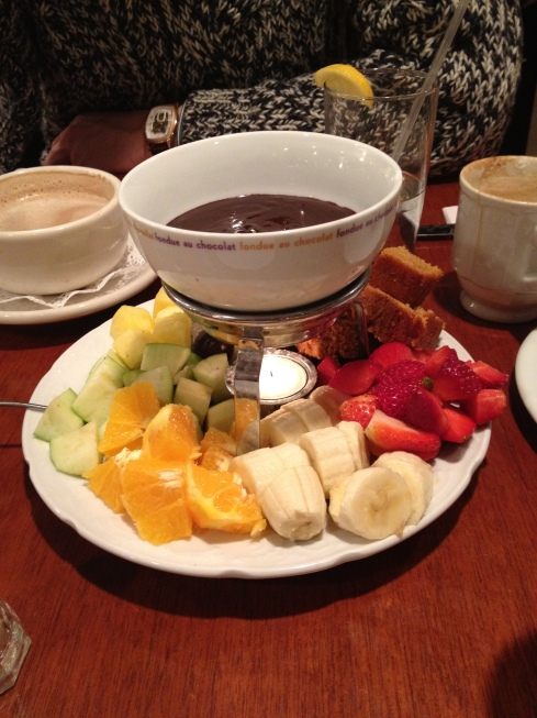 Chocolate fondue at Bread & Chocolate