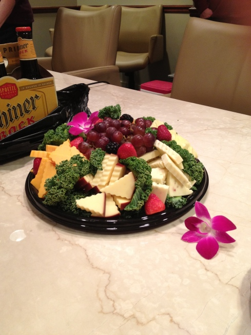 Cheese platter at an office party